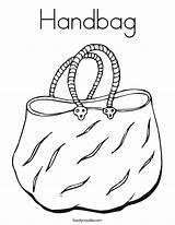 Coloring Handbag Pages Mother Purse Print Pocket Outline Twistynoodle Built California Usa Noodle Cursive Things sketch template