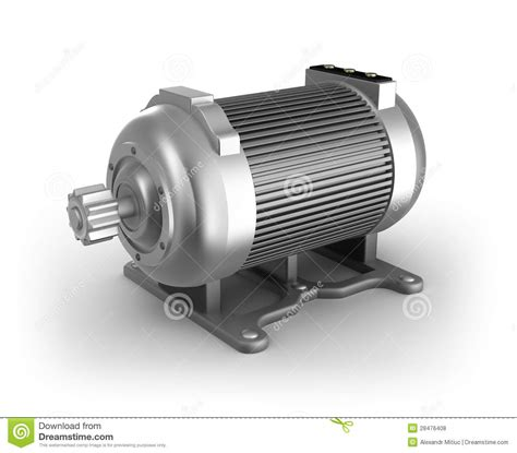 Electric Motor Images by Electric Motor 3d Image On White Stock Illustration