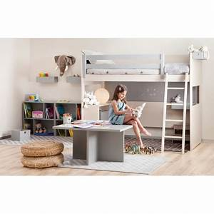 Lit Rangement Enfant : lit en hauteur gain de place pour junior liso par asoral ~ Teatrodelosmanantiales.com Idées de Décoration