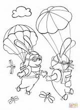 Sky Coloring Each Skydiver Template Rabbits Parachutists Met Pages Sketch Coloringpagesonly sketch template