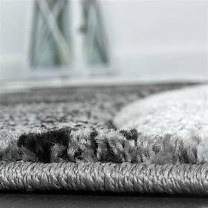 Bettumrandung Teppich Günstig : designer teppich mit konturenschnitt muster gestreift grau schwarz creme meliert teppiche ~ Markanthonyermac.com Haus und Dekorationen