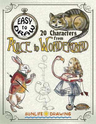 easy  draw  characters  alice  wonderland draw color  cartoon characters
