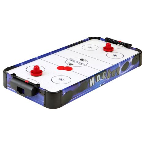 portable air hockey table hathaway games blue line 32 quot portable table top air hockey