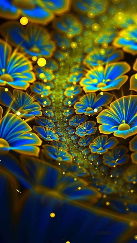 wallpaper digital flowers  abstract  wallpaper