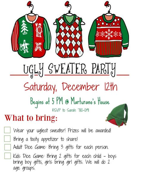 host  ugly christmas sweater party   mom