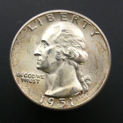 silver quarter 1951 s washington silver quarter 25c us coin choice bu ebay