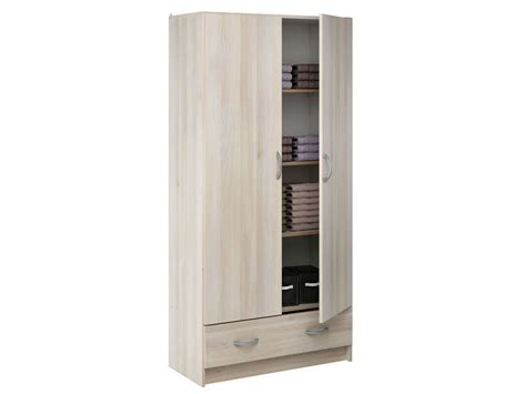 rangement colonne cuisine ère 2 portes 1 tiroir cobi coloris acacia vente de