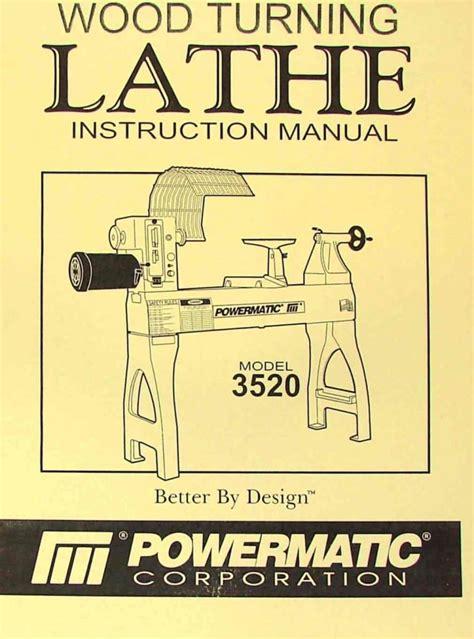 powermatic  wood lathe operators part manual ozark