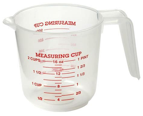 norpro 2 cup measuring cup clear plastic with handle spout 1 pint 500ml 3036 ebay