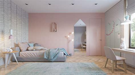 deco chambre bebe mur chambre poudré
