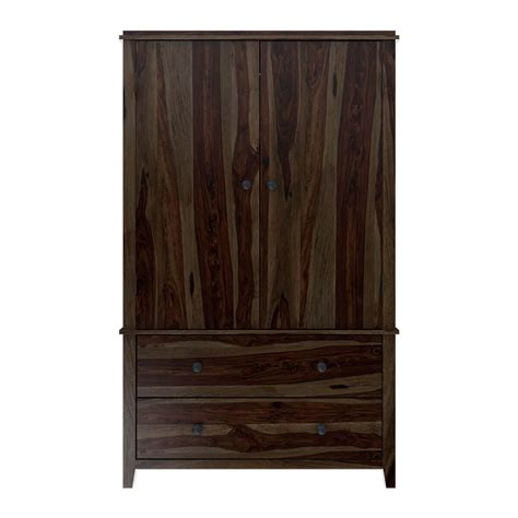 Wood Wardrobe With Drawers by Bozeman Solid Wood Rustic Wardrobe Armoire With Drawers