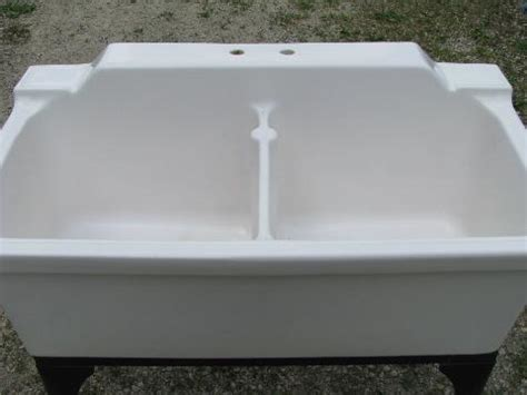 double porcelain kitchen sink antique farmhouse vintage ironstone porcelain double basin