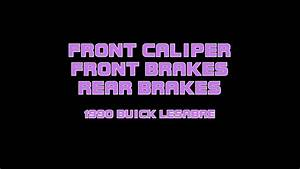 1990 Buick Lesabre - Replacing Brakes And Caliper