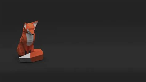 Animated Fox Wallpaper - low poly fox hd artist 4k wallpapers images