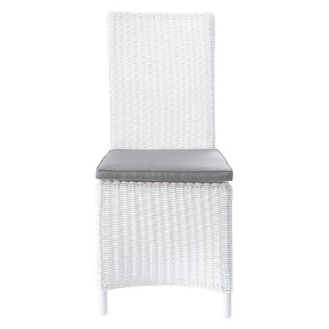 coussin de chaise maison du monde chaise de jardin coussin en résine tressée et tissu blanche mykonos maisons du monde