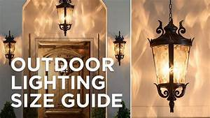 Outdoor Lighting Size Guide
