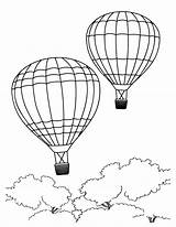 Coloring Pages Printable Sheets Balloon Air Balloons Colouring sketch template