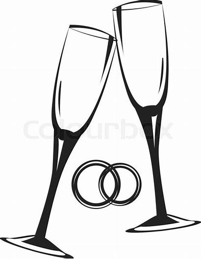 Champagne Glasses Glass Clipart Sketch Clipartmag Template