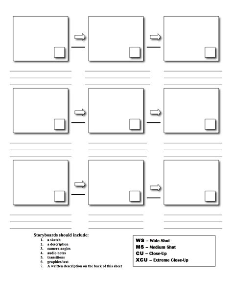 Design Storyboard Template by Downloadable Storyboard Templates For Broadcast Journalism