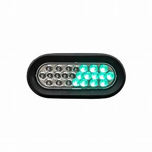 Snow Plow Strobe Lights Buyers Sl66cg 6 1 2 Quot 24 Led Clear Green Oval Strobe