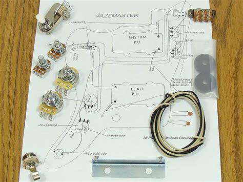 jazzmaster pots switch wiring kit  fender guitar