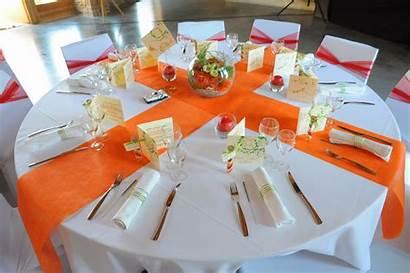 Decoration Blanc Orange Mariage