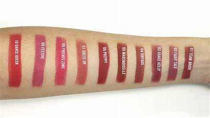Swatches Matte Lipstick Press Never Too Shades