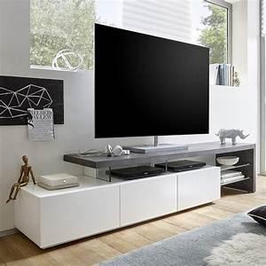 Table Tv But : alanis modern tv stand in concrete and matt white with ~ Teatrodelosmanantiales.com Idées de Décoration