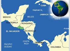 Map of El Salvador Terrain, area and outline maps of El