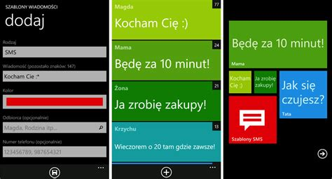 szablony wiadomości prosta aplikacja ułatwiająca