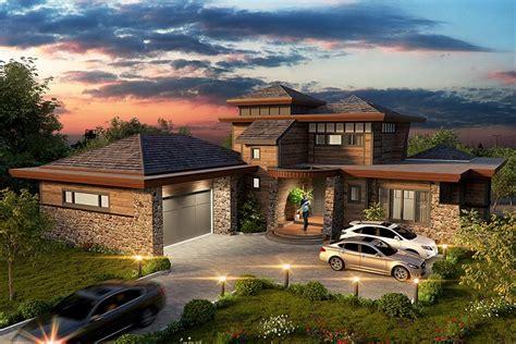 prairie style ranch house plans small prairie style contemporary prairie style ranch house plan 43208