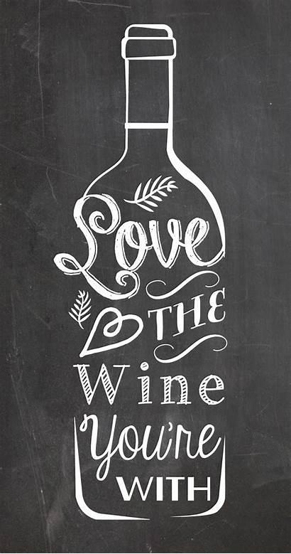 Chalkboard Kitchen Poster Wine Bonness Rachel Edit