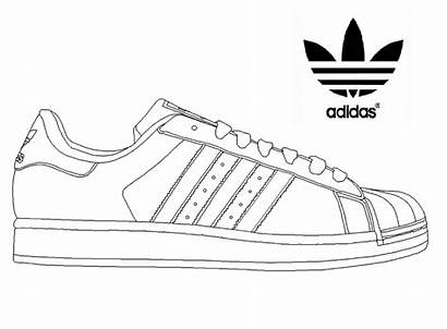 Coloring Adidas Superstar Sneakers Template Shoe Cleats