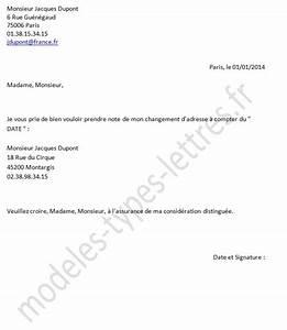 Lettre De Changement D Adresse : modele lettre changement d adresse ~ Gottalentnigeria.com Avis de Voitures