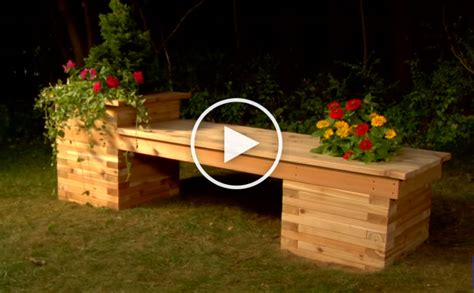 build  planter bench   small backyard