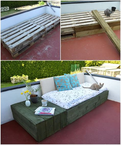 outdoor bed ideas creative ideas diy patio day bed from wooden pallets