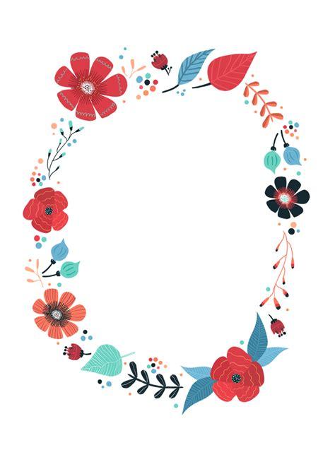 blooming wreath  printable birthday invitation