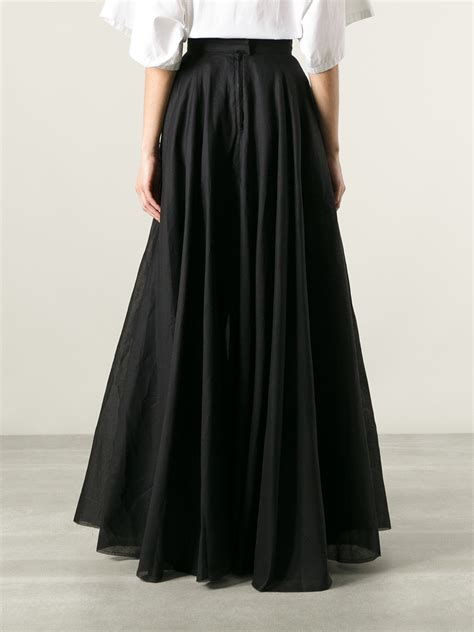 lyst  li full circle skirt  black