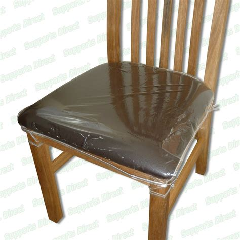 To Cover Chairs by Strong Dining Chair Protectors Clear Plastic Cushion Seat