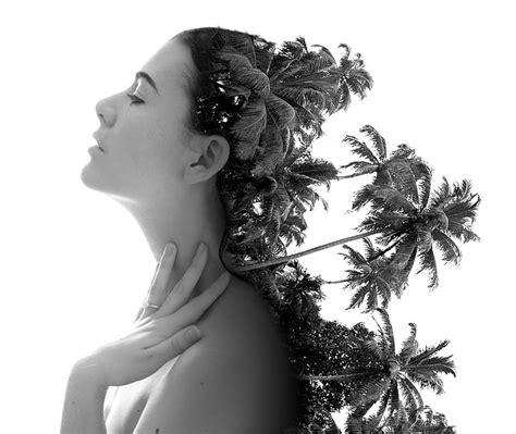 double exposure woman model  photo  pixabay