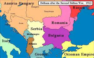 Map of Europe 1914 Balkan States