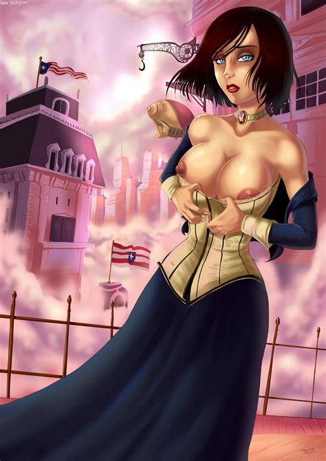 Rule 34 Bioshock Bioshock Infinite Blue Eyess Breasts