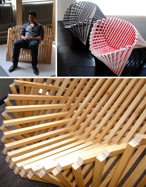 mind warping wood folding chair looks curved packs flat