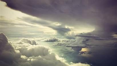 Clouds Desktop Wallpapers Pc Widescreen Storm Parede