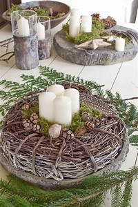 Tischdeko Weihnachten Selber Machen : sch ne nat rliche adventskr nze 4 tolle ideen f r euch ~ Watch28wear.com Haus und Dekorationen