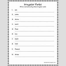 Irregular Verbs Worksheet 3rd Grade  Irregular Verbs Create Sentence  3rd Grade Language Arts