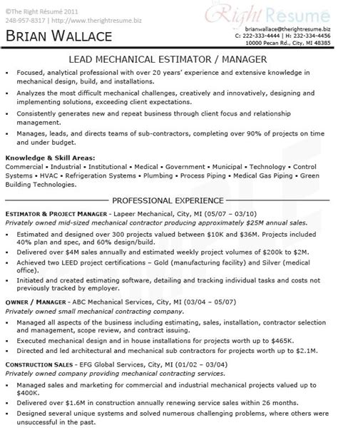 Team Manager Resume Exles by Sle Resume For Project Management Slesg
