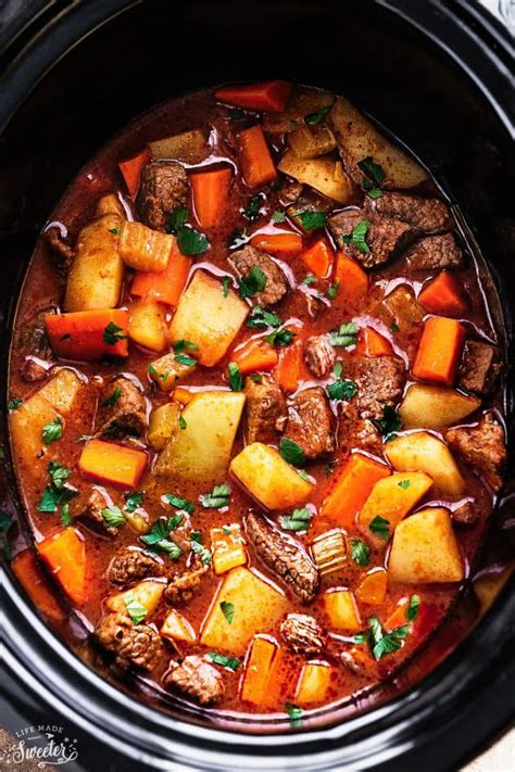 slow cooker homemade beef stew lifemadesweeter