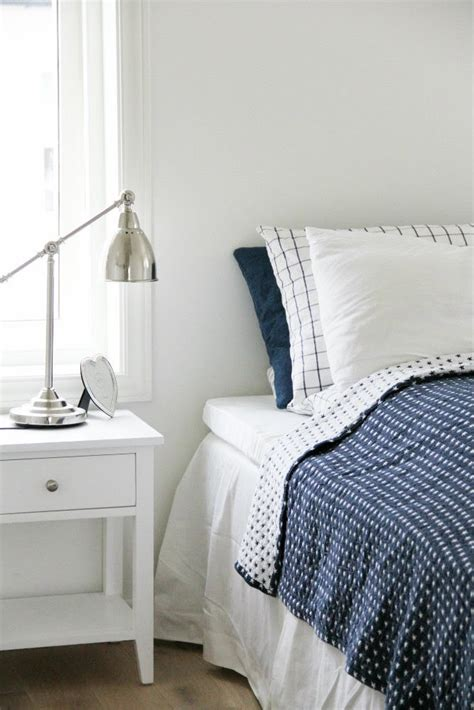 Decordots White And Navy Bedroom