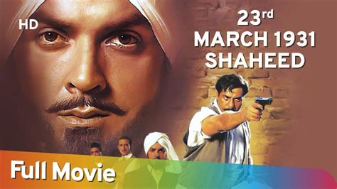 23 March 1931 Shaheed (hd) Hindi Full Movie| Bobby Deol